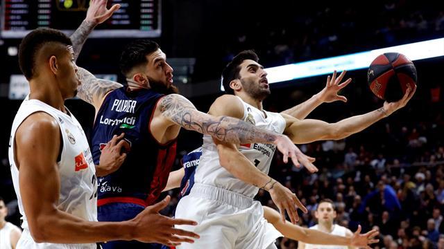 Liga ACB, Real Madrid-Baskonia: Se quedan la segunda plaza antes de la Copa (82-76)