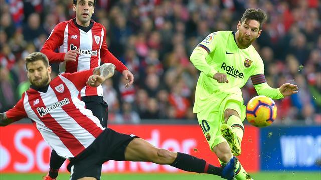 Un gagliardo Athletic Bilbao ferma sullo 0-0 il Barcellona: il Real Madrid prende la rincorsa