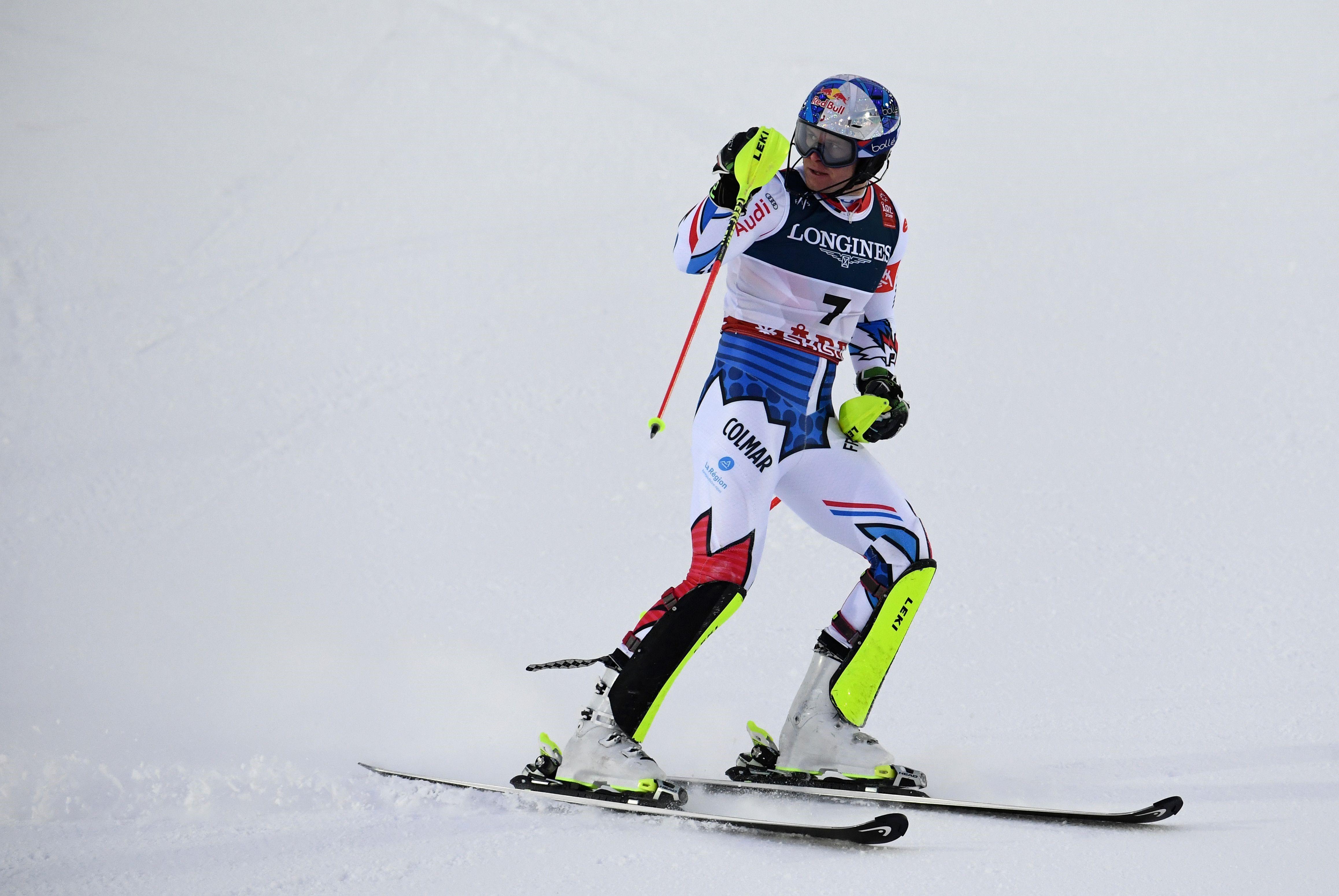 Alexis Pinturault lors du combiné alpin des Mondiaux 2019