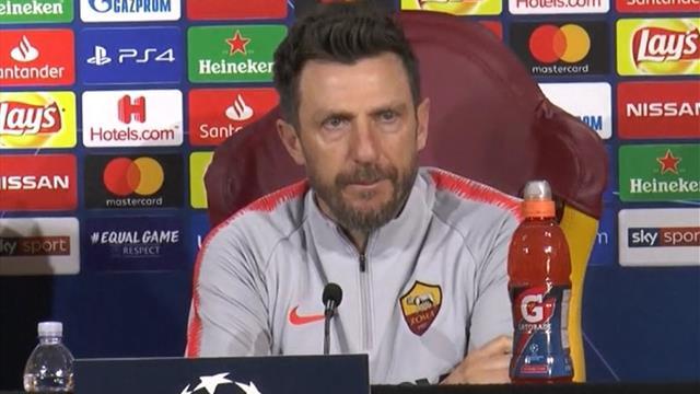 """Di Francesco: """"Contro il Porto, una grande occasione per la Roma per riportare entusiasmo"""""""