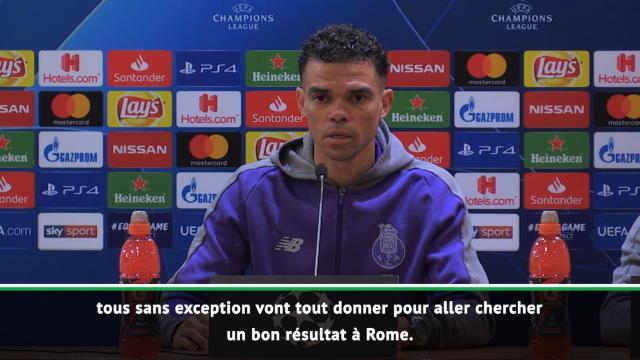 8es - Pepe : ''Tout donner pour ramener un bon résultat de Rome''