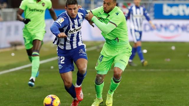 El Levante pierde el olfato goleador en 2019