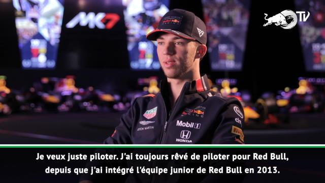 """Red Bull - Gasly : """"J'ai hâte de débuter la saison"""""""