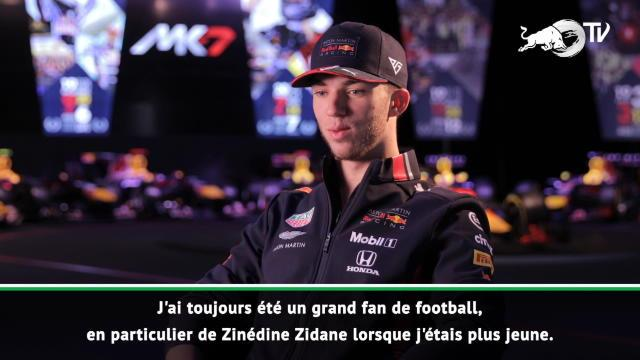 "Red Bull - Gasly, ""grand fan"" de Zidane"