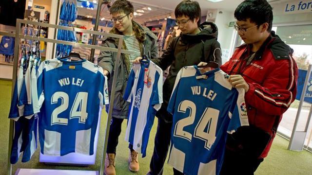 Wu Lei ya es el jugador del Espanyol que más camisetas vende
