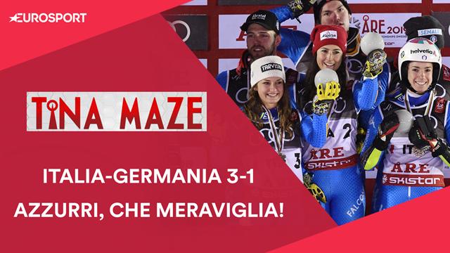 """Tina Maze: """"Italia di Bronzo nel Team Event, con la Germania vincono sempre gli Azzurri"""""""