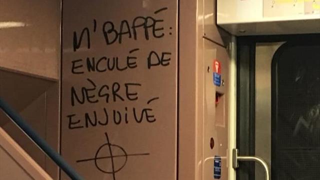 Оскорбительная надпись про Мбаппе в метро Парижа собрала комбо из ксенофобии и антисемитизма