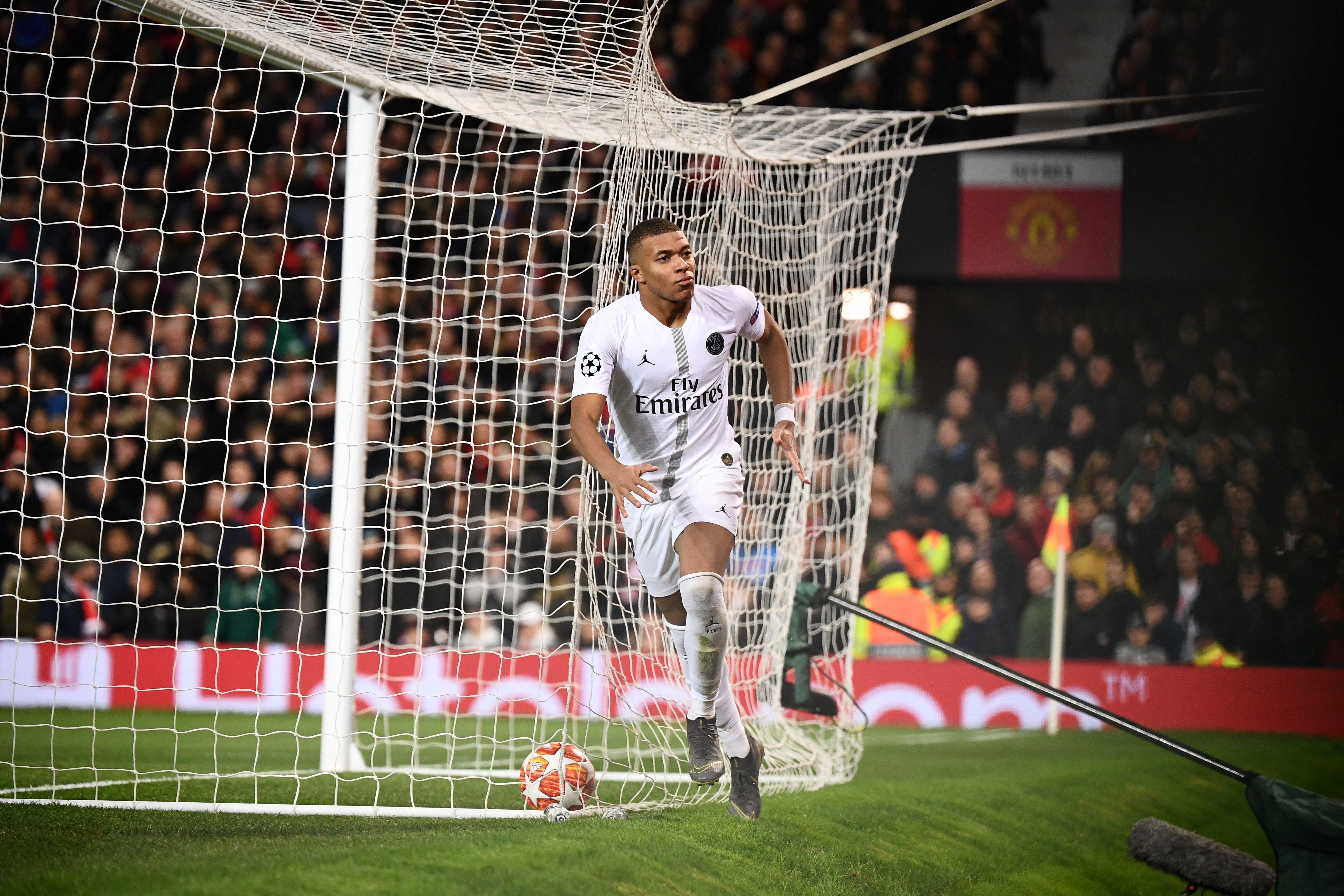 Kylian Mbappé lors de Manchester United - PSG / Ligue des champions