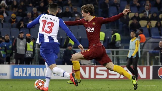 Nicolo Zaniolo brace edges Roma to victory in first leg with Porto