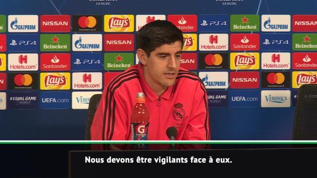 """8es - Courtois : """"Nous devons être vigilants face à l'Ajax"""""""