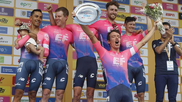 Tour de Colombia: El equipo de Urán se adjudica la contrarreloj inicial