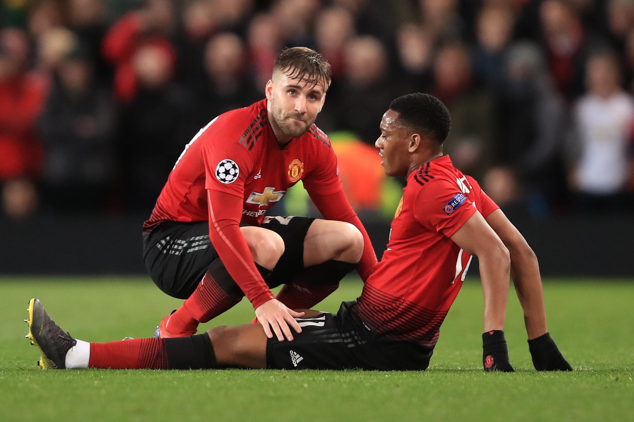 Anthony Martial, blessé lors de Manchester United - PSG / Ligue des champions