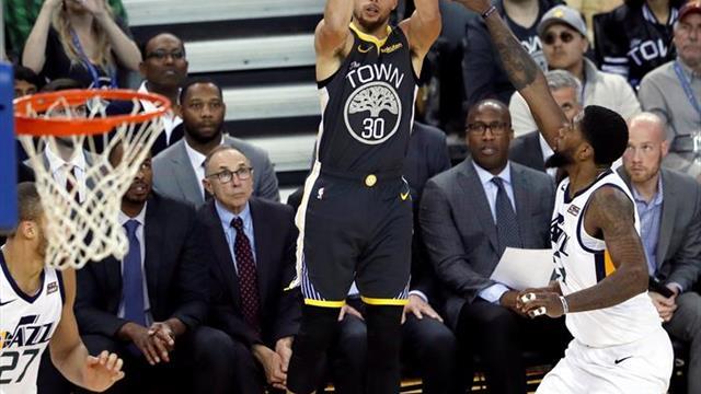 115-108. Durant y los Warriors amplían su racha victoriosa y frenan a los Jazz