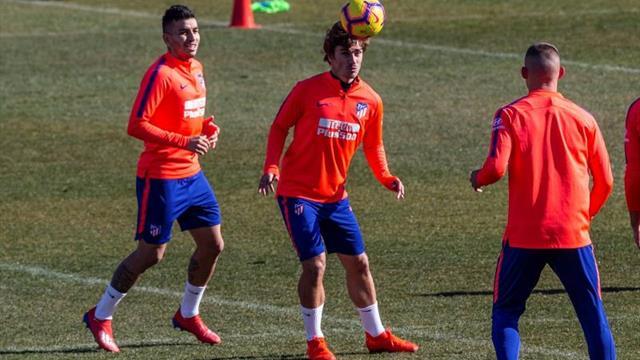Lucas y Rodrigo, bajas del entrenamiento del Atlético con Koke aparte