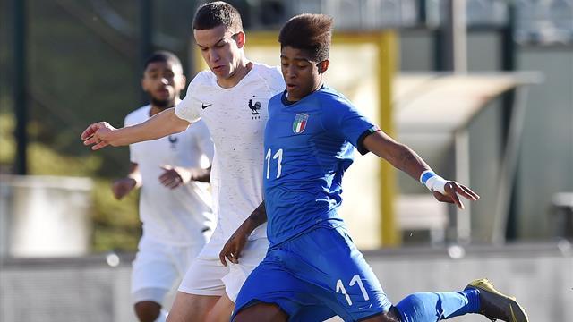 Gli azzurrini Under 19 battono 2-1 la Francia in amichevole, Esposito e Salcedo in gol