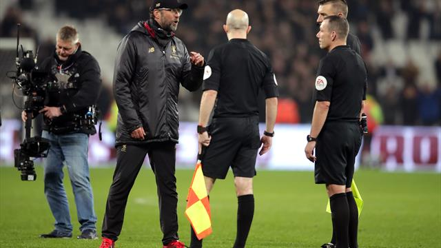 Jurgen Klopp charged for referee comments after West Ham game