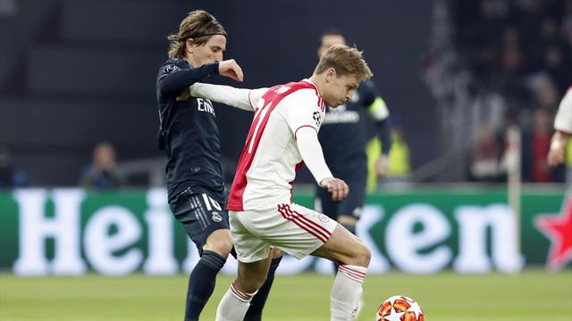 Le pagelle di Ajax-Real Madrid 1-2: De Ligt gran difensore, De Jong oscura Modric