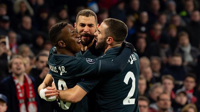 Champions League (Octavos, ida), Ajax-Real Madrid: La suerte del campeón (1-2)