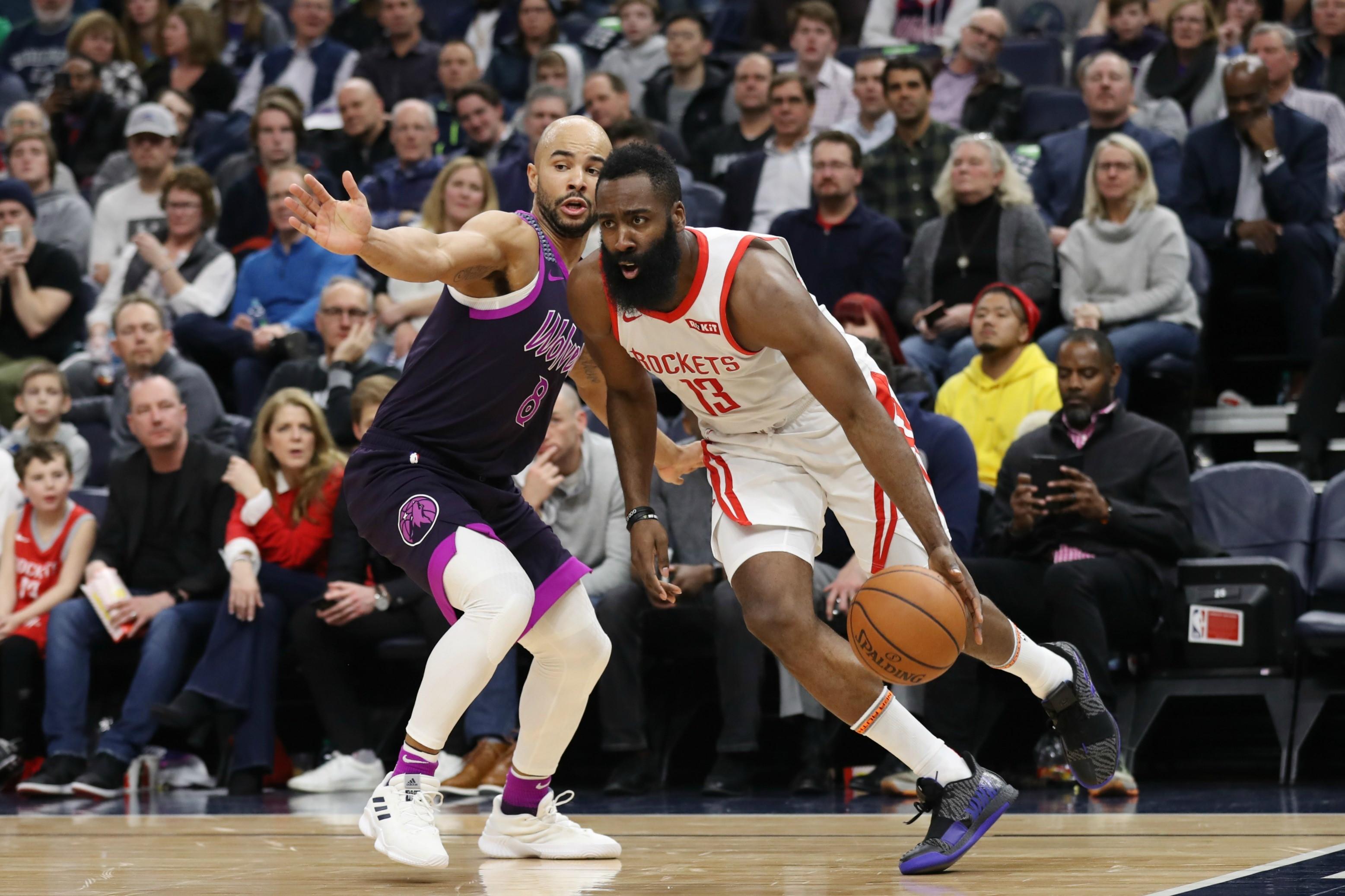James Harden lors de Houston - Minnesota en NBA le 13 février 2019