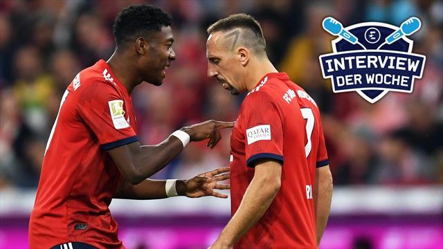 """Alaba exklusiv: """"Typen wie Ribéry gehören zum Fußball"""""""