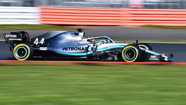 """Hamilton """"impressionné"""" par sa nouvelle Mercedes W10"""