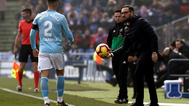 Hugo Mallo vuelve a entrenar con un vendaje; Aspas no salta al césped