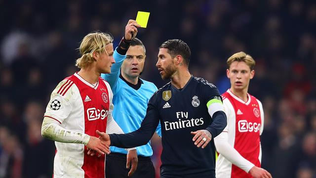 Ramos suggests he got yellow card on purpose against Ajax