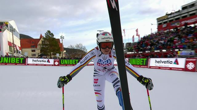 Rebensburg leads Giant Slalom after first run in Are