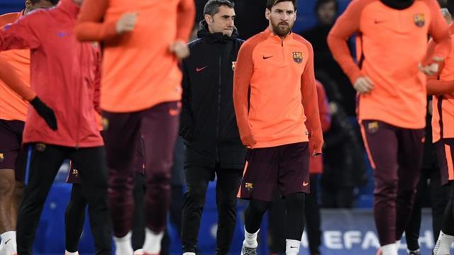 """Valverde: """"Messi está muy bien, hoy ha entrenado perfectamente"""""""