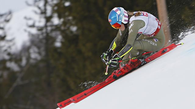 Watch: Shiffrin's first run in Giant Slalom