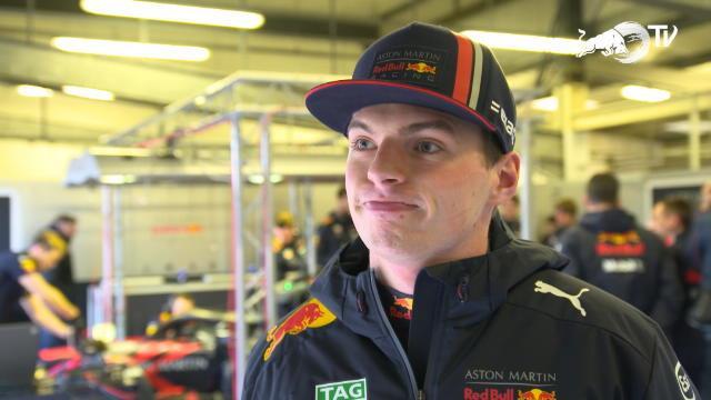 F1 - Verstappen en piste à Silverstone