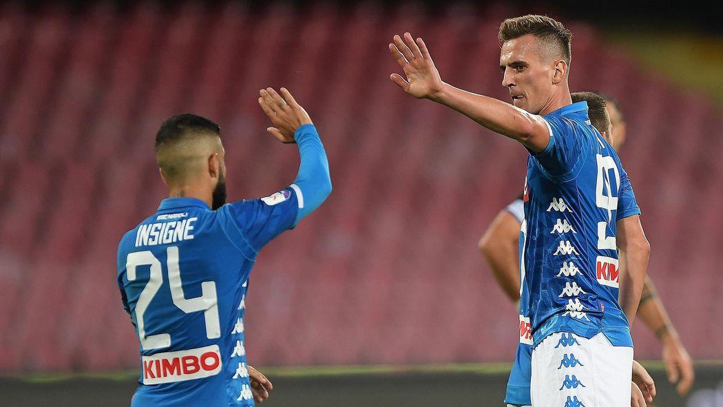 Calendario Arsenal.Le Formazioni Ufficiali Di Napoli Arsenal Insigne Con Milik