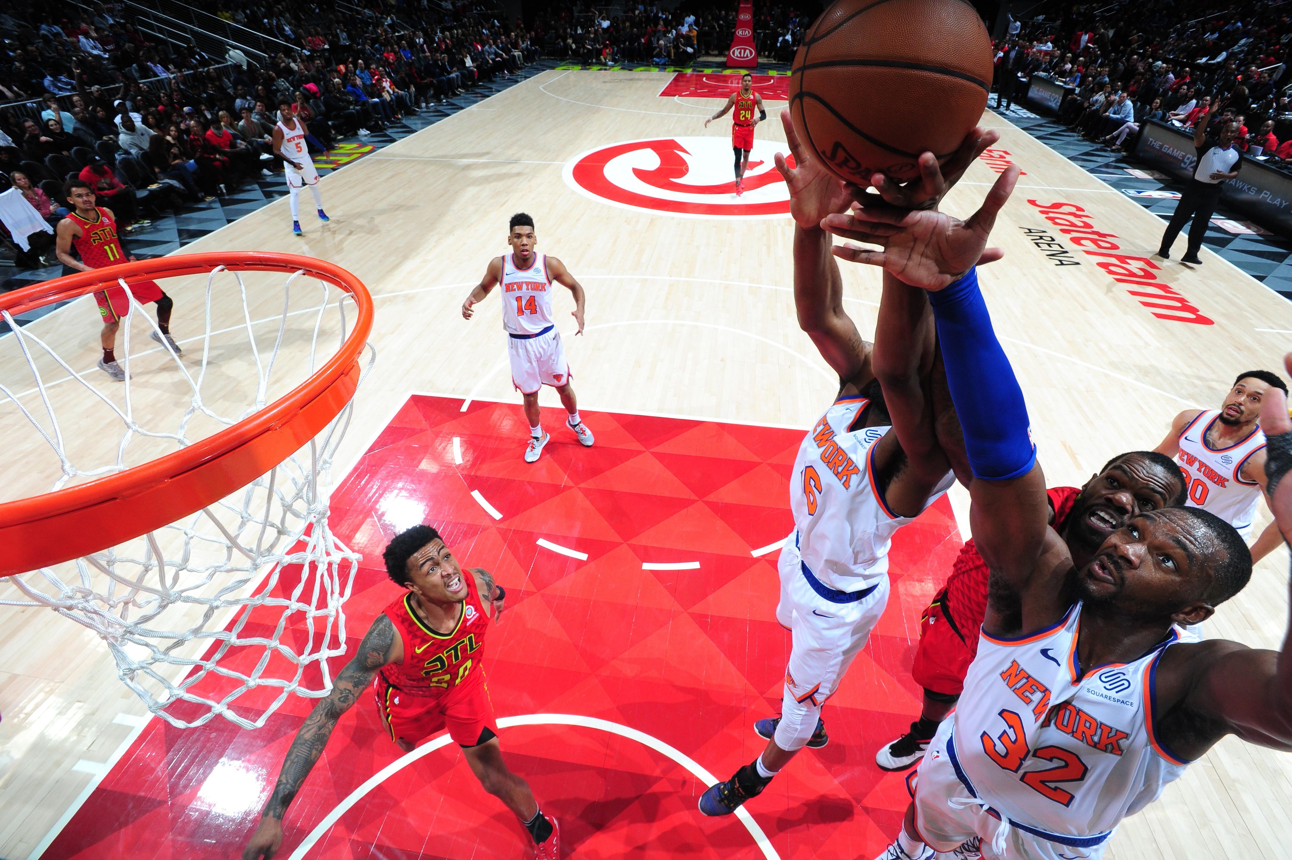 Noah Vonleh lors de Atlanta Hawks - New York Knicks en NBA le 14 février 2019