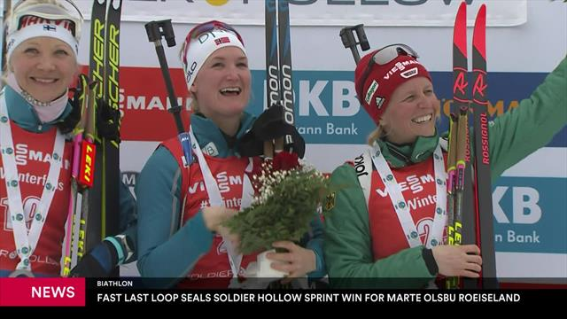 Biathlon | Roeiseland wint sprint in Soldier Hollow