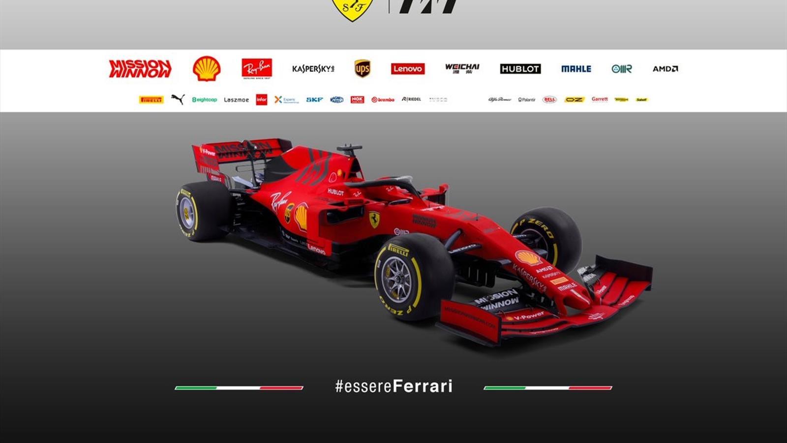 f1 news - ferrari unveil new formula one car for new era - season 2019 - formula 1