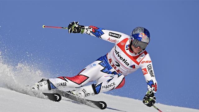 Pinturault leads Hirscher and Kristoffersen after Giant Slalom first run