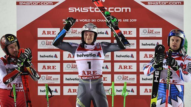 Kristoffersen stuns Hirscher and Pinturault to clinch Giant Slalom gold