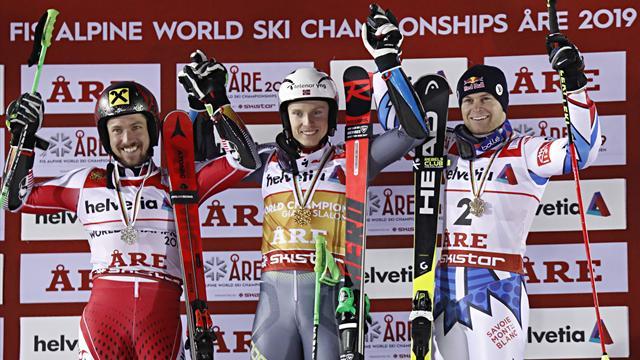 Кристофферсен завоевал золото ЧМ в гигантском слаломе