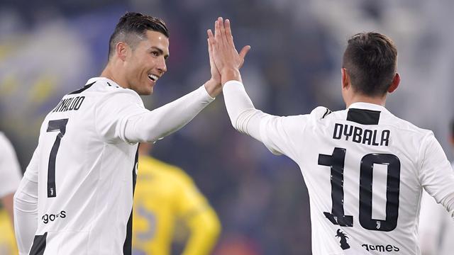 Dybala replicates Ronaldo celebration mash-up as Juventus bromance continues