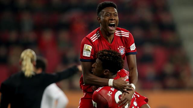 Coman steers Bayern to comeback win at Augsburg