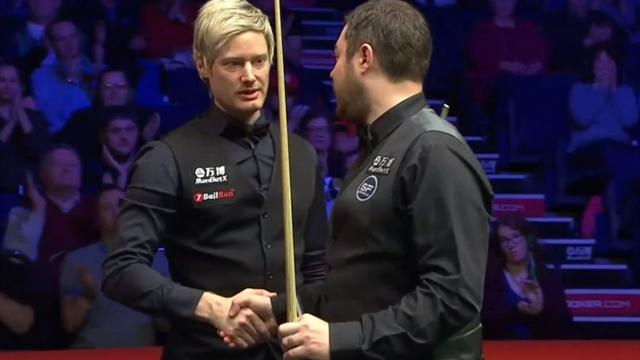 Robertson edges thriller against Maflin as Higgins crashes out to world number 103