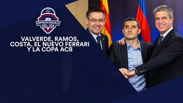 Valverde, Ramos, Costa, Guti, el nuevo Ferrari, la Copa y lo imprescindible del día