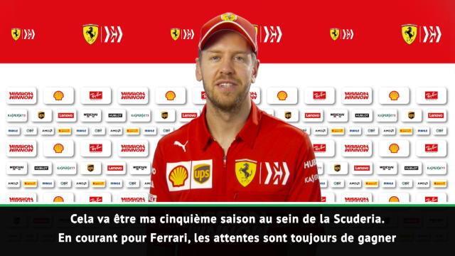 """Ferrari - Vettel : """"Se battre pour le titre mondial"""""""