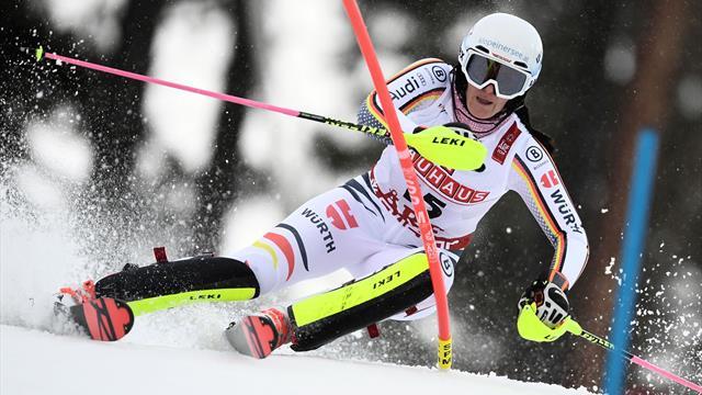 Geiger nach 1. Slalom-Lauf mit Top-Platzierung