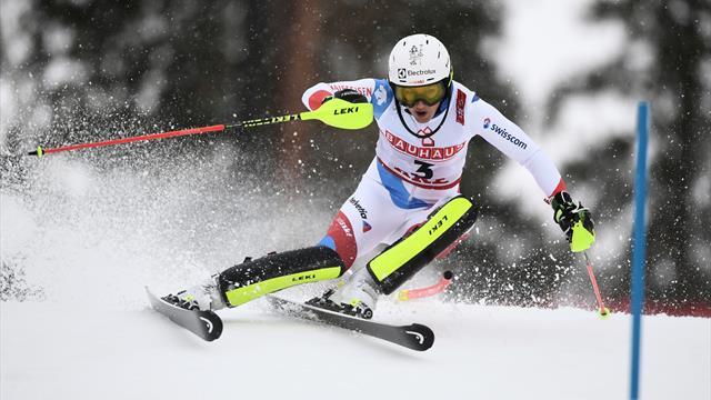 Holdener al comando nella prima manche dello slalom, Shiffrin arrabbiata e Vlhova sotto tono
