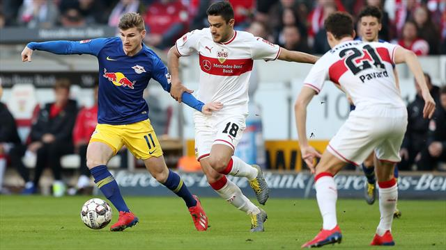 Poulsen double helps Leipzig close in on top three