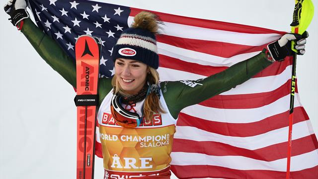 Sensational Shiffrin storms to fourth consecutive world slalom title