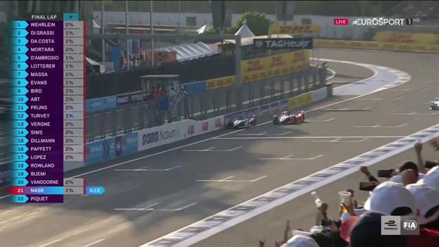 Fórmula E, ePrix de México: El mágico adelantamiento de Di Grassi a Wehrlein sobre la línea de meta