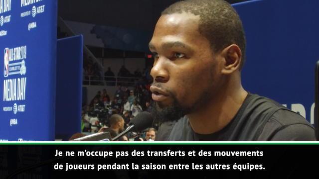 """NBA - Durant : """"Je ne me préoccupe pas des transferts de joueurs"""""""