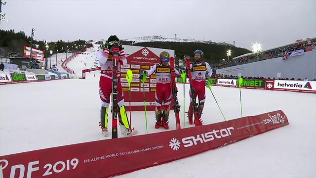 'King of Slalom' Hirscher completes hat-trick